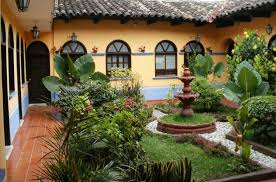 Small Picture Exteriors Country Spanish Small Courtyards Garden Design With