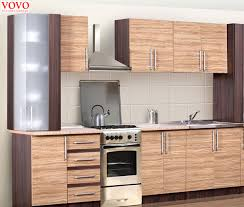 Customized Kitchen Cabinets Cool Integrated Wood Grain Melamine Kitchen Cabinetin Kitchen Cabinets
