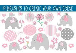 Officially formed in 2016, elephant heart is a world electronic collective started by married couple jason and victoria evigan. 19 Elephant Fun Brushes Graphic By Capeairforce Creative Fabrica Free Clip Art Elephant Cricut Monogram