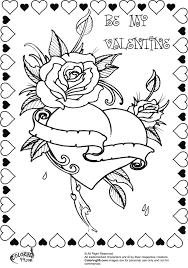 Bbeautiful rose heart valentine coloring pages for adults. FREE ...