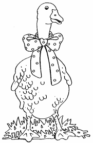 Small Picture Goose with Bow Tie Coloring Page