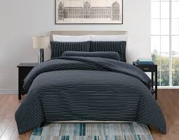 oc elefen jersey cotton thin stripes black and white quilt cover