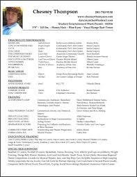 Sample Theatre Resumes Sample Theatre Resumes Beautiful Musical Theatre Resume Template