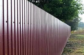 corrugated metal privacy fence. Modren Metal Corrugated Fence Metal Privacy Using Post Pertaining To  Cost Plans   For Corrugated Metal Privacy Fence