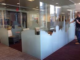 office glass frosting. downtown cleveland wells fargo 3m milano office glass frosting
