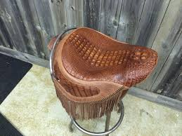 alligator seat motorcycle seat harley davidson cycle custom exoitc skin exotic leather high end upholstery