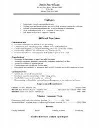 Barback Resume No Experience Job Description Image Examples