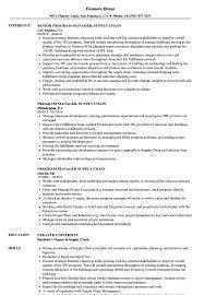 Supply Chain Resume Program Manager Supply Chain Resume Samples Velvet Jobs 16