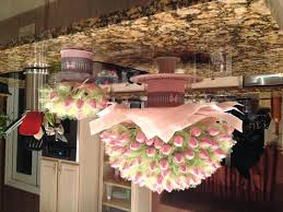tissue paper chandelier kiss roses skewers wire tulle pom full size