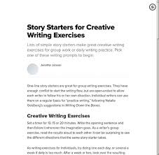 starters creative exercises  tok essays