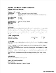 Gallery Of Dental Assistant Resume Template