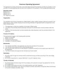 Legal File Note Template Uk Business Operating Agreement