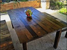 timber country dining table