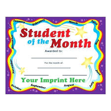 Student Of The Month Certificate Templates 85 X 11 Certificate Template