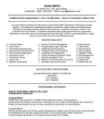 Quality Inspector Resume New Quality Control Inspector Resume Quality Inspector Resume New
