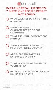 Part Time Job Cv Template Part Time Retail Job Interview Questions People Regret Not Asking