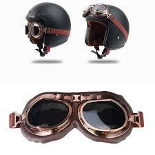 ldmet helmet goggles harley motorcycle helmet goggles visors cruiser chopper cafe racer motorbike pilot aviator retro vine helmets helmets ldmet
