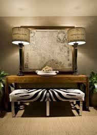 i just love this mix the very modern zebra bench with the more rustic elements lovely this room