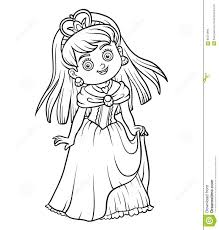 Libro Da Colorare Personaggio Dei Cartoni Animati Principessa