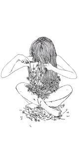 girl wallpaper Sketch background ...