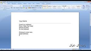 How To Write A Letter In Microsoft Office 2007