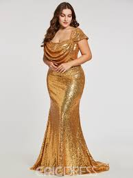 Eric Dress Size Chart Ericdress Sequins Mermaid Plus Size Evening Dress With Cap