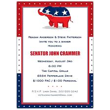 Political Fundraising Invitations Republican Party Fundraising Invitations