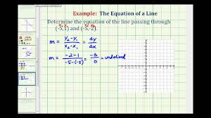 ex find the equation of a vertical line given two points on the line