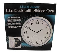 full image for wonderful wall clock safe 60 silver wall clock with safe wall