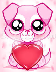 Small Picture How to Draw a Valentine Puppy Step by Step Pets Animals FREE