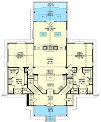 one floor house plans with two master suites luxury dual master suites sv