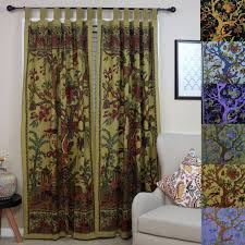 handmade 100 cotton tree of life tab top curtain d panel 8 color options