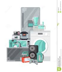 Appliances Discount Sale Discount Household Appliances In Flat Style Stock Vector