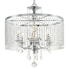 chandeliers fifth and main lighting 6 light polished chrome chandelier with k9 crystal dangles home