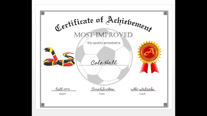 How To Easily Make A Certificate Of Achievement Award With Ms Word ...