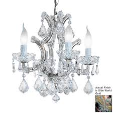 classic lighting maria theresa 16 in 4 light olde world gold crystal crystal