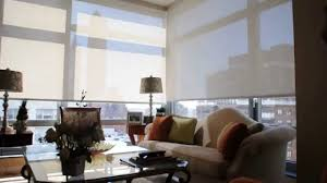 motorized roller shades. Motorized Solar Shades NYC - Installation Of Window In Apartment YouTube Roller I