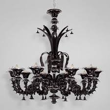 gisele black glass chandelier moss manor a design house with regard to idea 10