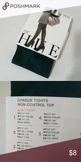 Hue Control Top Tights Size Chart Nip Hue Opaque Tights Bottle Green Sz 1 Brand New Hue Opaque