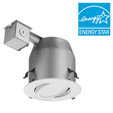 lithonia lighting 5 in matte white recessed gimbal integrated led lighting kit