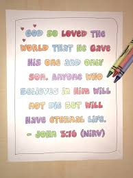 John 316 Bible Verse Coloring Page Childrens Ministry Deals