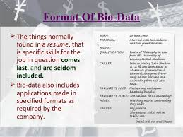 Specified formats as required by the company. Resume Cv Bio Data Differences E Portfolio