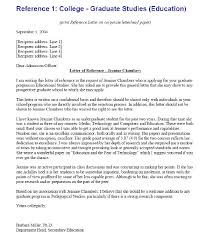 Sample Letter Of Recommendation For Student Going To College     happytom co letter of recommendation for college admission