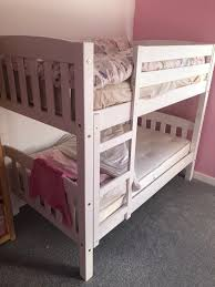 verona america shorty bunk bed white paint finish