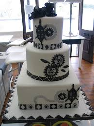 Black White African Traditional Wedding Cake In Deliciou Flickr