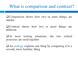 eng how to write compare and contrast essays  more familiar thing 4 useful when comparing