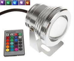 10w led spot light rgb focus lens outdoor 12 volt