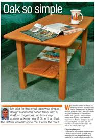 solid oak coffee table plans