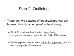 compare contrast essay main objectives discuss the ways that  8 step