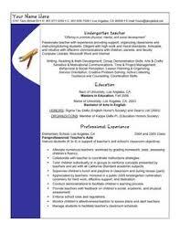 Resume Samples For Teacher 46 Best Teacher Resumes Images Teacher Resume Template Teacher